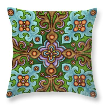 Botanical Mandala 4 Throw Pillow