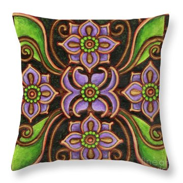Botanical Mandala 6 Throw Pillow