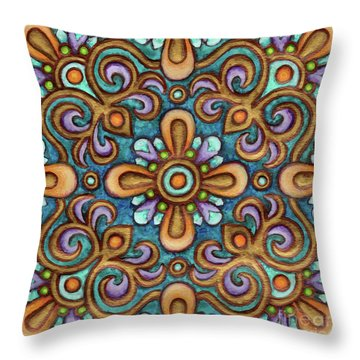 Botanical Mandala 7 Throw Pillow