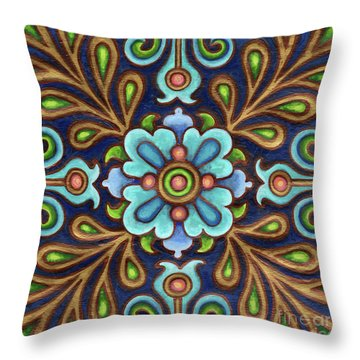 Botanical Mandala 9 Throw Pillow