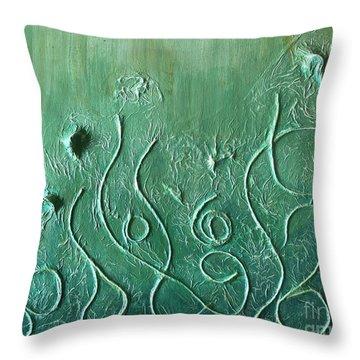 Botanical Maze Throw Pillow