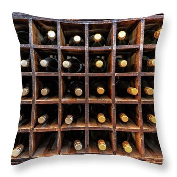 Bottles Of Wine Throw Pillow