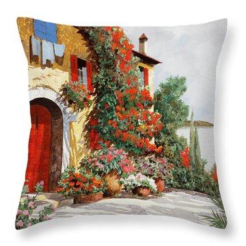 Bougainvillea Arancio Throw Pillow