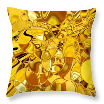 Throw Pillow featuring the digital art Boules D Or by A zakaria Mami