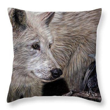 Bound By Fate Throw Pillow