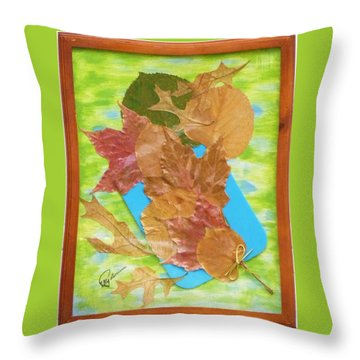 Bouquet From Fallen Leaves Throw Pillow