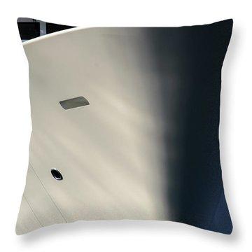 Bow Of Mega Yacht Throw Pillow