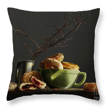 Bowl Of Donuts Throw Pillow