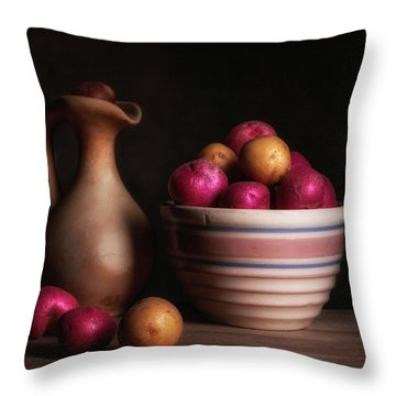 Bowl Of Potatoes With Pitcher Throw Pillow