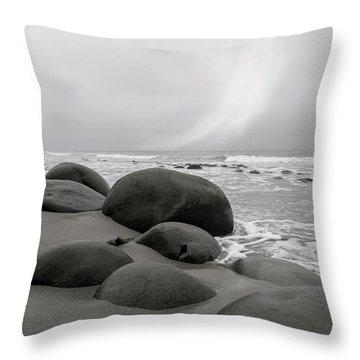 Bowling Ball Beach California Morning Throw Pillow