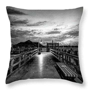 Bradenton Beach City Pier Throw Pillow