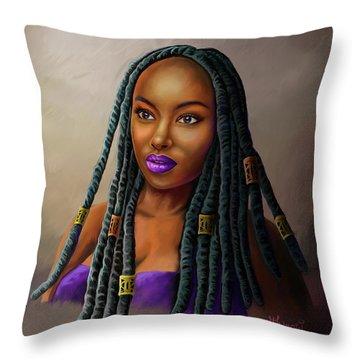 Braid Queen Throw Pillow