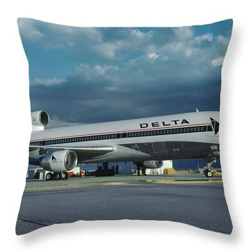 Brand New Delta Airlines L-1011 Tristar Throw Pillow