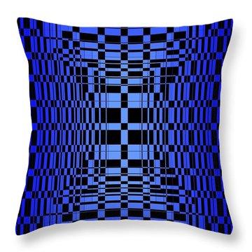 Brave Blue  Throw Pillow