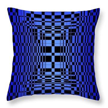 Brave Blue  Throw Pillow