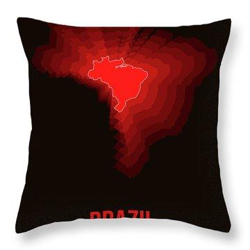 Brazil Radiant Map 3 Throw Pillow