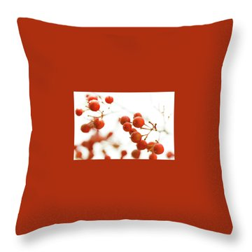 Throw Pillow featuring the photograph Brazilian Pepper 0493 by Mark Shoolery