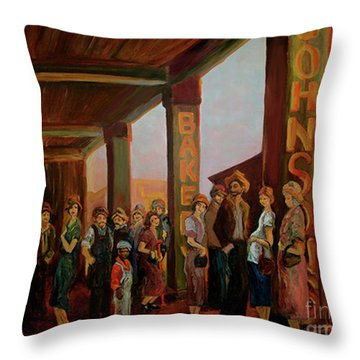 Bread Line Throw Pillow