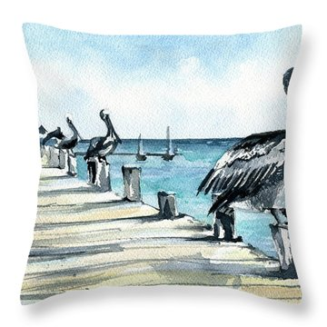 Breakfast For Four Throw Pillow