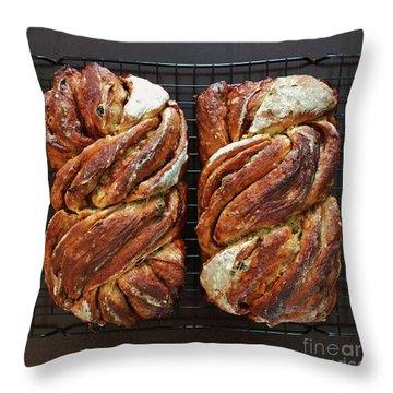 Breakfast Sourdough Swirls Throw Pillow