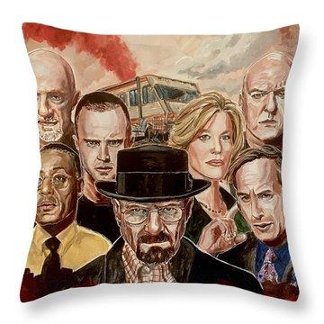 Breaking Bad Family Portrait Throw Pillow
