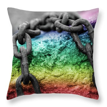 Breaking The Chains Throw Pillow