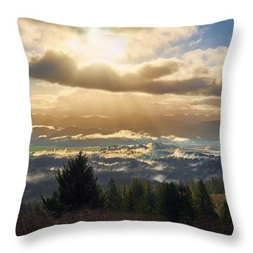 Throw Pillow featuring the photograph Breakthrough by Whitney Goodey