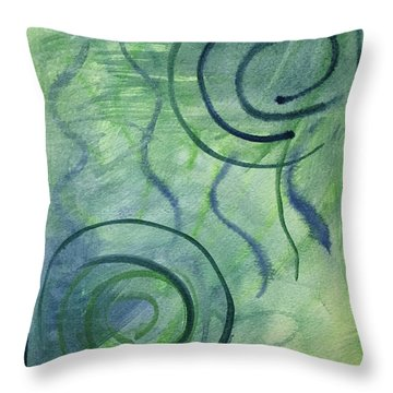 Beach Collection Breeze 2  Throw Pillow
