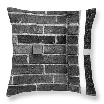 Brick And Glass - 2 Throw Pillow