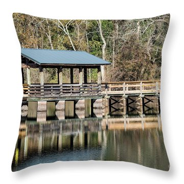 Brick Pond Park - North Augusta Sc Throw Pillow