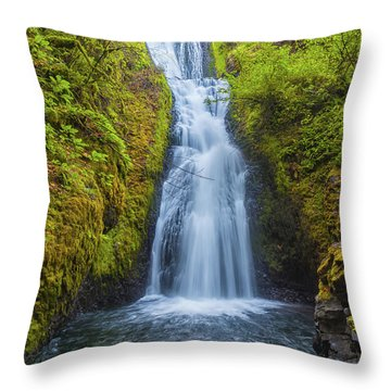 Throw Pillow featuring the photograph Bridal Veil by Dheeraj Mutha