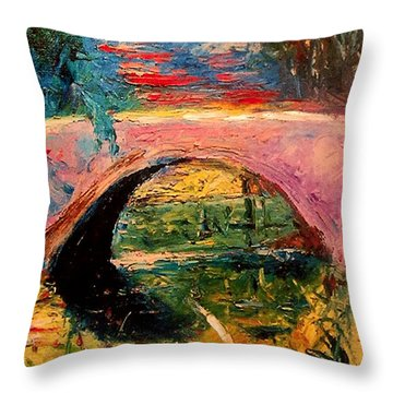 Bridge At City Park Throw Pillow