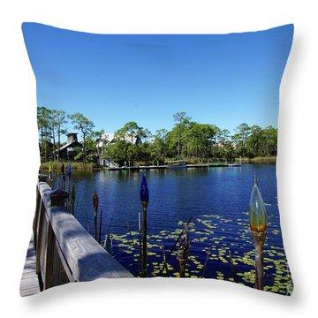 Bridge In Watercolor Throw Pillow