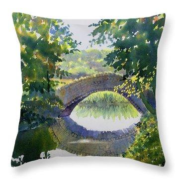 Bridge Over Gypsy Race Throw Pillow