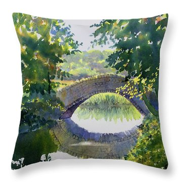Bridge Over Gypsy Race Throw Pillow