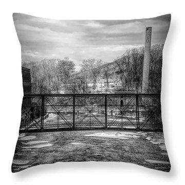 Bridge Over The Sugar River Throw Pillow