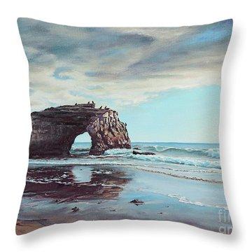 Bridge Rock Throw Pillow