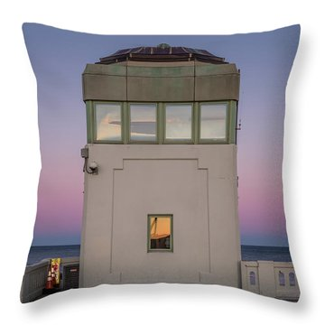 Throw Pillow featuring the photograph Bridge Tender's Tower by Steve Stanger