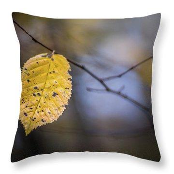 Bright Fall Leaf 1 Throw Pillow