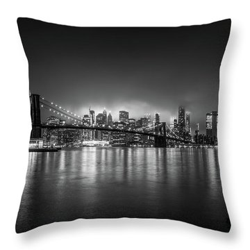 Bright Lights Of New York Throw Pillow