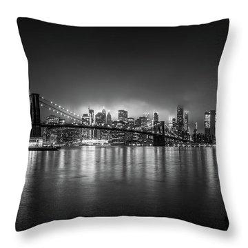 Bright Lights Of New York Throw Pillow
