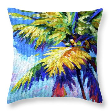 Bright Palm Throw Pillow