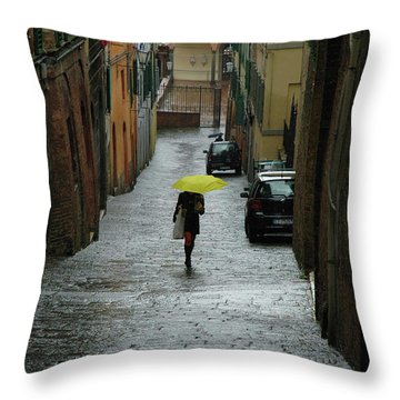 Bright Spot In The Rain Throw Pillow