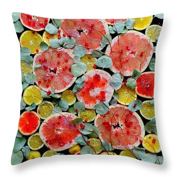 Brighter Days Citrus Throw Pillow