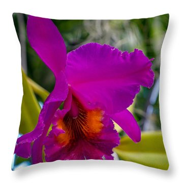 Brilliant Orchid Throw Pillow