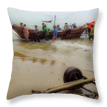 Bringing In The Catch Throw Pillow