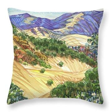 Briones From Mount Diablo Foothills Throw Pillow
