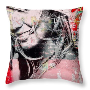 Britney Baby Throw Pillow
