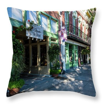 Broad Street Downtown Augusta Ga Throw Pillow