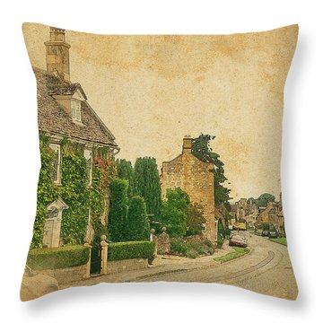 Broadway Street View Throw Pillow